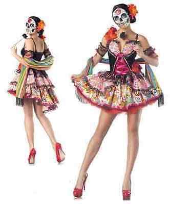 Party Kings Day Of The Dead Dia De Los Muertos Sexy Womens Halloween Costume (Womens Dia De Los Muertos Kostüme)