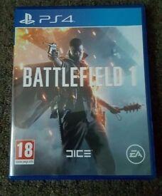 Battlefield 1 (Sony PlayStation 4, 2016)LIKE NEW