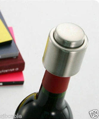 Stainless Steel Reusable Vacuum Sealed Champagne Red Wine Bottle Stopper Cap New Bar Tools & Accessories