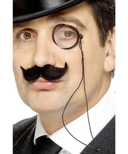Black Eye Piece Steampunk Victorian Monocle Gentleman Costume Spectacle Monocle