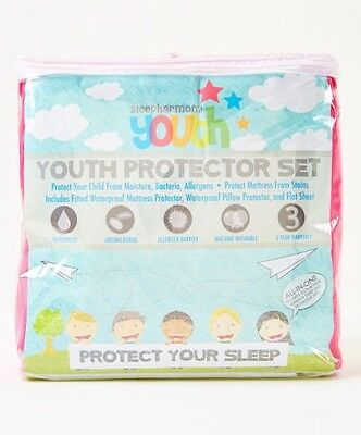 Sleep Harmony Kids Mattress Pad, Pillow Protector & Sheet Se