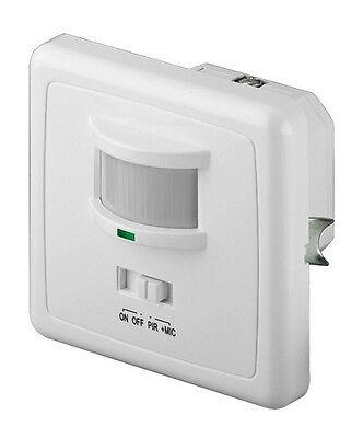 infrarot bewegungsmelder unterputz weiß 160° max.9m 10sec-7min 3-2000 lux neu