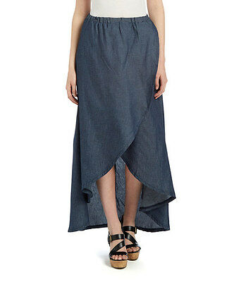 NWT Light Denim Dark Indigo Hi-Low Skirt, size S and 3XL, SG-85952 ()