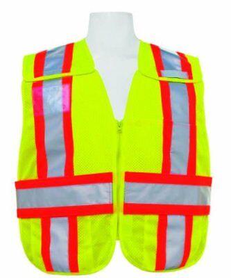 5-point Breakaway Mesh Safety Vest - Ansi 207lime Firepoliceems Traffic