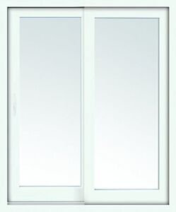 "Brand New 60x80"" Stanley Left Hand Sliding Patio Door - White"