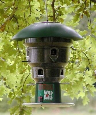 New Wild Bills Electronic Squirrel Proof Bird Feeder 8 Ports Pole Adapter Kit