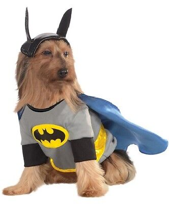 Pet Dog Cat Batman Superhero Halloween Clothes Fancy Dress Costume Outfit S-XXXL