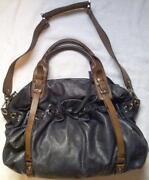 Leather Drawstring Handbag