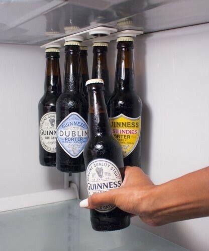 Magnetic Beer Bottle & Jar Hanger For Fridge Organize Magnet