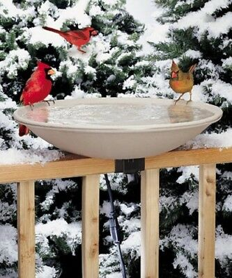 New Heated Deck Mounted Bird Bath Allied Precision Stone Colored