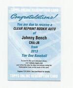 Johnny Bench Auto
