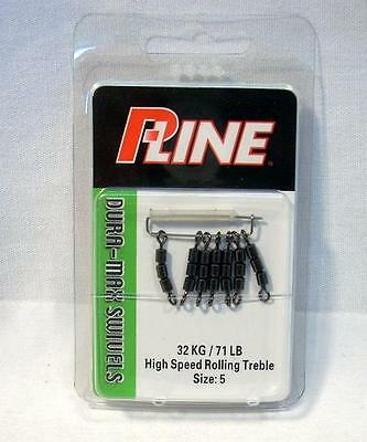 P-Line P5RC1-5 Pucci 5 Barrel Rolling Chain Fishing Swivels Package of 5 Size 1
