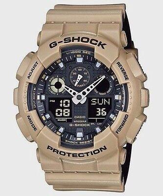 Crazy Deal New G-Shock GA100L-8A Color Model Light Beige/Black Analog-digital