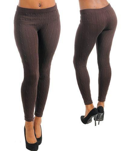 Cable Knit Sweater Leggings Ebay