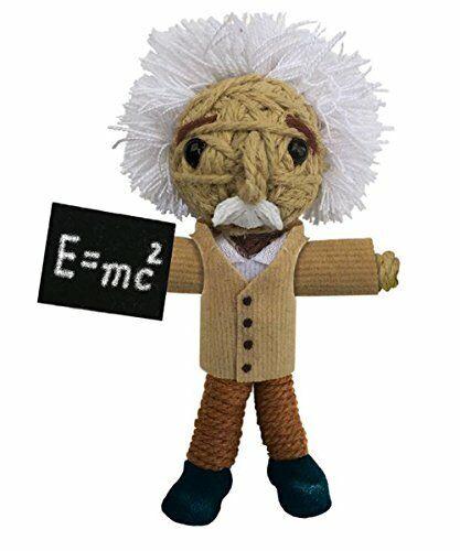 Kamibashi Albert Einstein The Original String Doll Gang Handmade Keychain Toy...