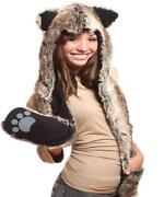 Hat with Attached Mittens