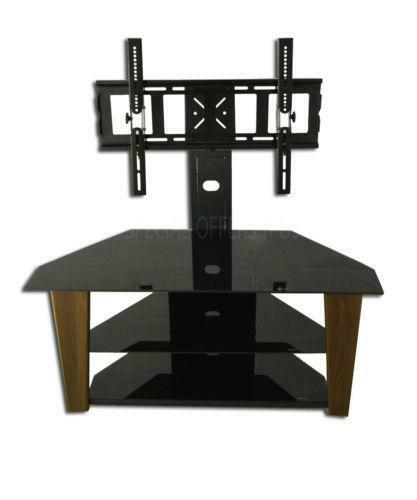 black wood tv stand ebay. Black Bedroom Furniture Sets. Home Design Ideas