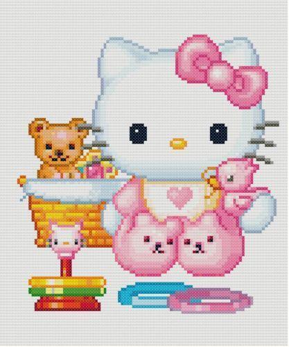 Hello Kitty Cross Stitch Ebay