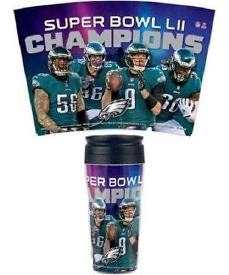 Super Bowl Mugs (PHILADELPHIA EAGLES SUPER BOWL LII CHAMPIONS 16 OZ. INSULATED TRAVEL MUG COFFEE)