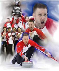"16"" x 20"" Canvas Print 2017 Brier Champs Brad Gushue"
