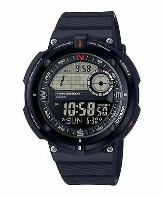 - Casio SGW600H-1BV,Twin Sensor Watch, Compass, Thermometer, 200 Meter WR,5 Alarms