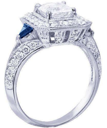diamond and sapphire engagement ring ebay - Sapphire Wedding Rings