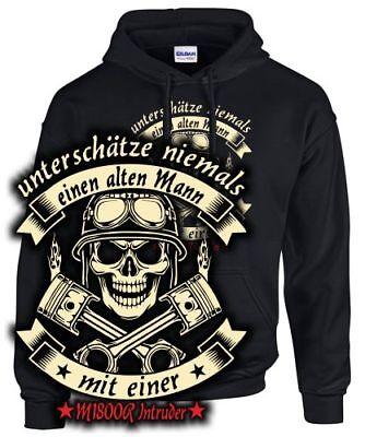 M 1800 R Intruder Tuning Biker Sweatshirt ALTER MANN MIT Motorrad Zubehör Spruch Alter Sweatshirt