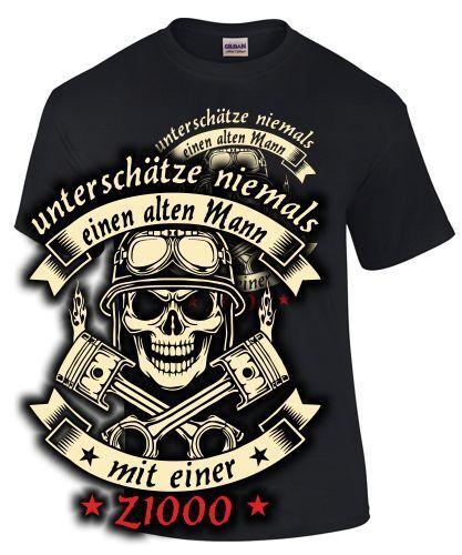 Z1000 Tuning Biker T-Shirt ALTER MANN MOTORRAD Treffen Spruch Zubehör