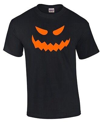 T-SHIRT HALLOWEEN * NEON * KÜRBISKOPF HORROR MONSTER Kürbis Kostüm Verkleidung (Halloween Kuerbis)