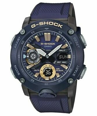 Casio G-Shock GA-2000-2A Carbon Core Guard Navy Blue Black Watch