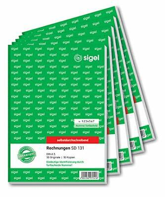 Rechnungsformulare SIGEL SD131/5fortlaufend nummeriert A5 4x Bürobedarf B-WARE