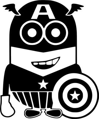 Captain America Minions Avengers Decal Car Wall Laptop Window Vinyl Sticker
