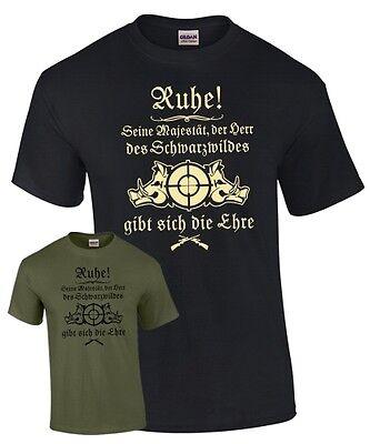 T-Shirt Jäger HERR DER SCHWARZWILDES Jagd Wildschwein Keiler Jagen Spruch lustig