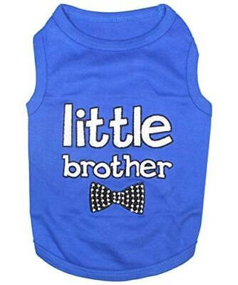 Dog Cat Clothes Tee Shirts Little Brother, Little Brother, Size M37V - $13.99