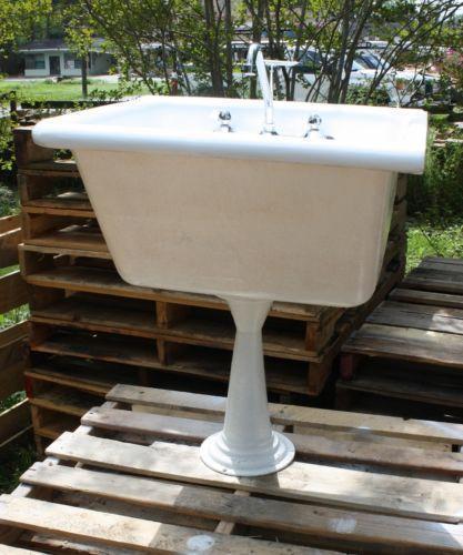 Cast Iron Pedestal Sink Ebay