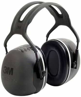 Peltor X-series Over-the-head X5 Earmuffs - Foam Steel Liner - 1each - Black
