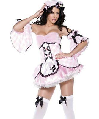 Sexy Damen Kleiner Miss Muffet Märchen Kostüm Verkleidung Party Damen Satz
