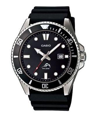 Casio MDV106-1AV, Men's Black Resin Watch, 200 Meter WR,Date, Anti-Reverse Bezel
