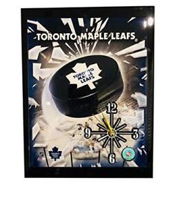"Toronto Maple Leafs (10"" x 12"") Hand Crafted Analog Wall Clock - Battery Operated - Quartz Movement Quality Clock"