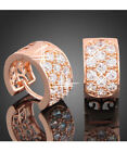 Rose Gold Plated Gold Huggie Fashion Earrings