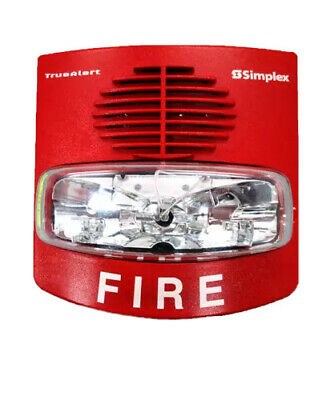 0743254 Simplex 4906-9127 Wall Horn Strobe Red Fire Alarm Security System