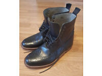 Jasper Conran Genoa Men's Black Lace Up Ankle Boots with Real Leather Sole 7