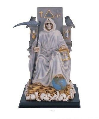 11 Inch Santa Santisima Muerte Holy Death Grim Reaper Statue Skull Figure