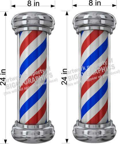 Barber Pole Decal Ebay