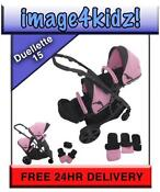 Pink Twin Pushchair