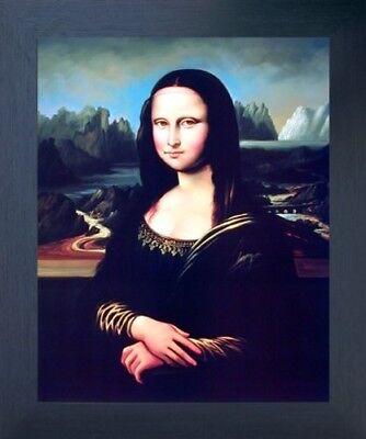 Leonardo Da Vinci Mona Lisa Reproduction Wall Art Decor Espresso Framed Picture (Mona Lisa Frame)