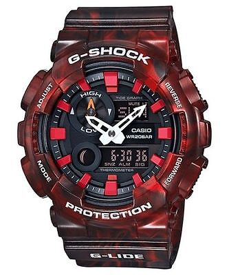 Weekend Deal New Casio G-Shock GAX100MB-4A G-Lide Red Analog-Digital Mens Watch