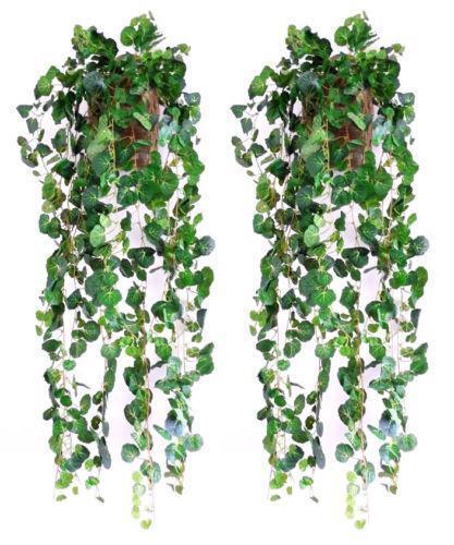 artificial hanging plants floral decor ebay. Black Bedroom Furniture Sets. Home Design Ideas