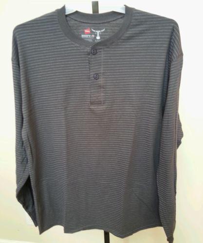 Mens long sleeve pullover shirts ebay for Mens long sleeve pullover shirts