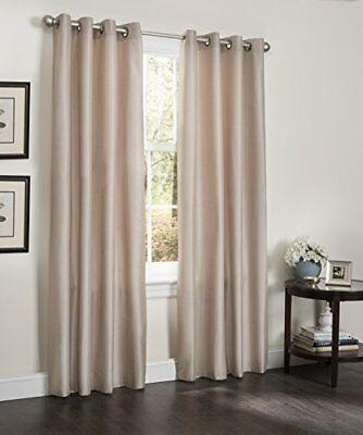 """Kashi Home Erin Collection Window Treatment / Panel / Curtain, 55"""" X 84"""" Faux Si"""